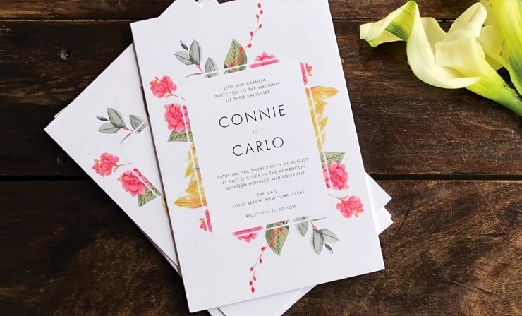 6 x 9 flat - Invitation Card Printing